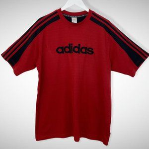 Adidas Vintage Spellout Red T-Shirt